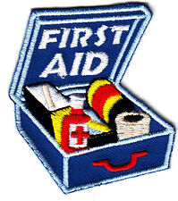 """FIRST AID"" KIT w/MEDICAL SUPPLIES/Iron On Applique/Nurse, Profession,Medical"