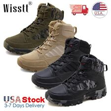 Mens Tactical Military Boots Combat Army Security Work Boots Hiking Ankle Shoes