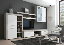 Parete attrezzata Besko bianco grigio mobile TV soggiorno sala da pranzo 293 cm