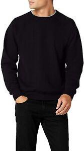High Quality Machine Washable Geeney Mens Raglan Classic Sweater (Black) - L