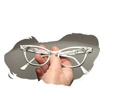 Vintage 60s Rhinestone Cat Eye Glasses Unused Nos Frame Flair Tura AluMinum