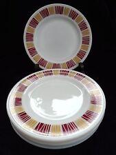 VINTAGE RETRO 70s SET SIX  PYREX MATCHMAKER RARE RED YELLOW DINNER PLATES