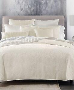 Hotel Collection Artisan Brushstroke Full / Queen Comforter White $420