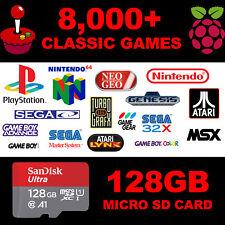 128GB Retropie Raspberry Pi 3B Micro SD Card - Custom Collection