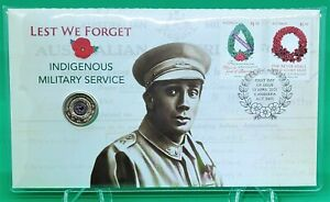 2021 $2 Dollar Lest We Forget Indigenous Military Service PNC
