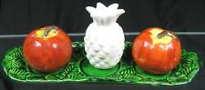 3 Piece Set Vintage 1950's Salt & Pepper Shakers Occupied Japan