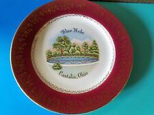 Vintage Souvenir Plate Castalia, Ohio Blue Hole