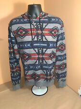 On The Byas Thin Hoodie Size M Aztec Design - Free Shipping