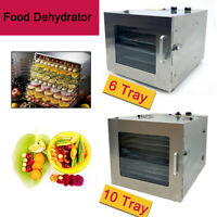 6/10 Etagen Dörrgerät Dörrautomat Obst und Gemüse Trockner Food Dryer 600W/1000W