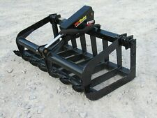 48 Single Cylinder Root Grapple Bucket Attachment Fits Skid Steer Quick Attach