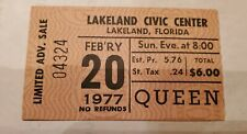 Queen Ticket Rare!
