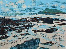 Porthmeor Beach, St Ives Original Hand Pressed Linocut Print Ltd Edition