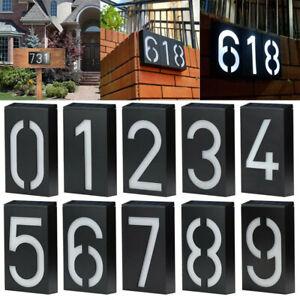 Solar Power LED Number Sign Light House Street Door Address Plaque Plate Lamp!