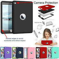 For iPad Mini 4 5 Air Pro Case Shockproof Hybrid Silicone Heavy Duty Hard Cover