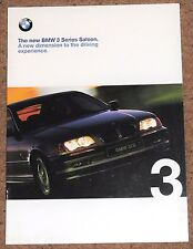 1998 New BMW 3 SERIES SALOON (E46) Sales Brochure - 318i 323i 328i SE