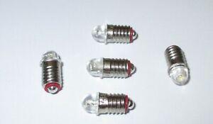 LED  E5.5  16-24V  warmweiß  ( Märklin 600100 / 600200 ) 5 Stück  NEU