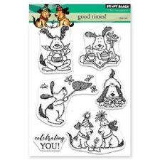PENNY BLACK RUBBER STAMPS CLEAR GOOD TIMES NEW clear STAMP SET