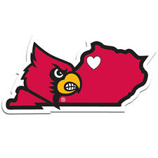 Louisville Cardinals Home State Vinyl Auto Decal NCAA Licensed (Kentucky Shape)