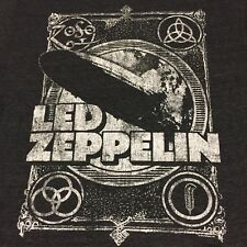 Led Zeppelin Medium Gray T-shirt Rock Band Music Jimmy Paige Rock And Roll