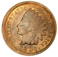 1901 INDIAN HEAD CENT ~ HIGH GRADE UNC RED AND BROWN ~ PRICED RIGHT!