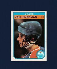 Ken Linseman signed Edmonton Oilers 1982 Opee Chee hockey card