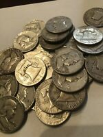 Franklin Half Dollars , 90% Silver Coin Lot, Circulated, Low Pricing!!!!