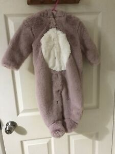 Next baby girl 6-9 months All In One BNWT In Pink With Hood