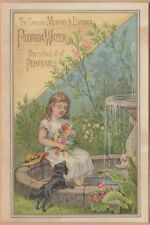 Victorian Trade Card-Murray & Lanman Florida Water-Boston, MA-Fountain-Dog