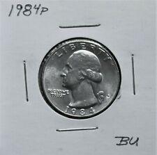 1984P Au+ & 1985P Gem Bu Problem Free Washington Quarter 0J39Ircs & Lrcs