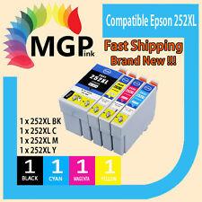 4x Generic Ink Cartridge 252XL for Epson WF-3620 WF-3640 WF-7610 Workforce