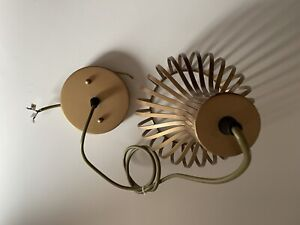 Art Deco Ceiling Light Pendant In Faux Copper