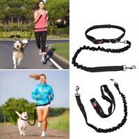 Hundeleine Führen Gürtel Verstellbare Hände Frei für Jogging-Laufen# N5I7
