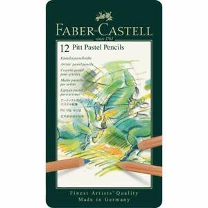 Faber Castell Pitt Pastel Pencil Tin Set of 12 Colours
