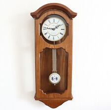 ADLER Vintage Wall Clock VERY RARE! WESTMINSTER Chime Pendulum ELECTRIC! Germany
