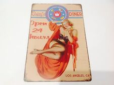 DAISY'S DRIVE-IN DINER AMERICAN  *L A*Wall art movie Bar/Sign Tin Plaque PICTURE