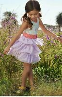 Matilda Jane Brilliant Daydream Lets Eat Cake birthday tulle dress Size 8 NWT
