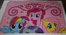 My Little Pony Brand Fleece Throw Blanket EUC Rainbow Dash Pinkie Pie