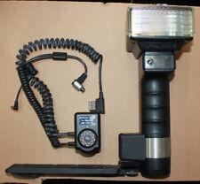 Metz Mecablitz 45 CL-4 Handle Mount Flash w/ METZ SCA 396 adapter for mamiya 645