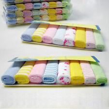 8Pcs/Set Soft Baby Newborn Children Bath Washcloth Towels For Bathing Feeding