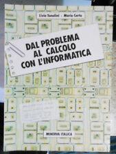 Matematica Dal problema al calcolo con l'informatica Tonolini Certo Minerva 1989