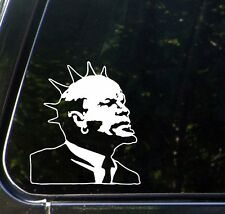 "CAR - Punk Rock Lenin - Car Vinyl Decal Sticker - (5.5""w x 6.25""h) (WHITE)"