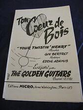 Partition Ton coeur de bois Your twisting heart The Golden Guitars Music Sheet