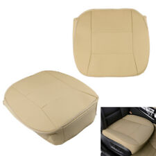 1x Universal PU Leather Car Seat Cover Seat Protector Cushion Front Covers Beige