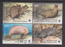 2011 WWF For Nature! Joint Territories Issue - CTO Block of 4
