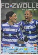 Programma / Programme FC Zwolle v SC Cambuur Leeuwarden 12-12-2010