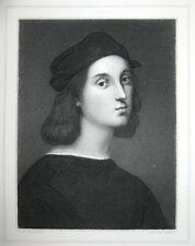 1868 Arte Pittura Rinascimento Italia-Raffael-rame ritratto chiave
