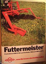 ✪altes Original Prospekt Busatis Futtermeister Frontmähwerk BM 1260 BM 1260 FL