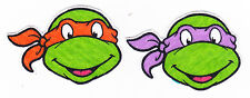 "2.5"" Tmnt teenage mutant ninja turtles faces orange fabric applique iron on"