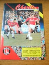 18/01/1989 Charlton Athletic v West Ham United [FA Cup] (Team Changes). No obvio