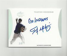 Triston McKenzie 2015 Leaf Trinity Inscription /5 RARE Auto Indians 2/5 1/1